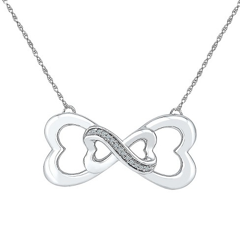 Diamond Accent White Diamond Prong Set Infinity Necklace in Sterling Silver (IJ-I2-I3) - image 1 of 1