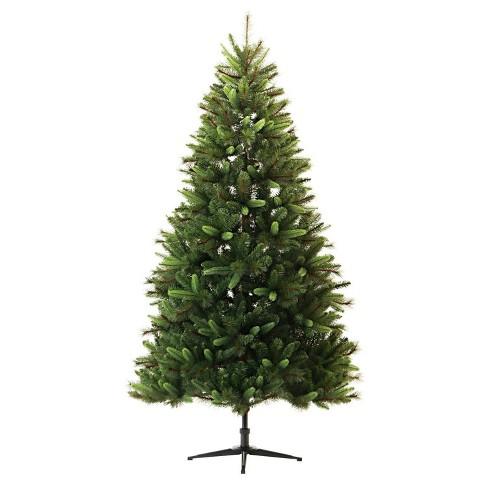 7ft Christmas Tree.7ft Unlit Artificial Christmas Tree Balsam Fir Wondershop