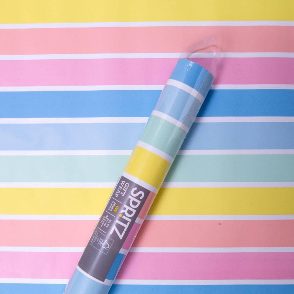Image of Striped Sherbert Roll Wrap - Spritz