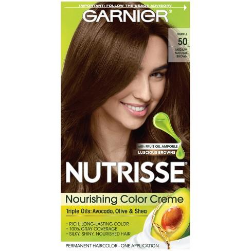 Garnier Nutrisse Nourishing Color Creme 50 Medium Natural ...