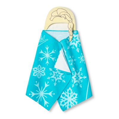 Frozen Elsa Hooded Bath Towel Blue