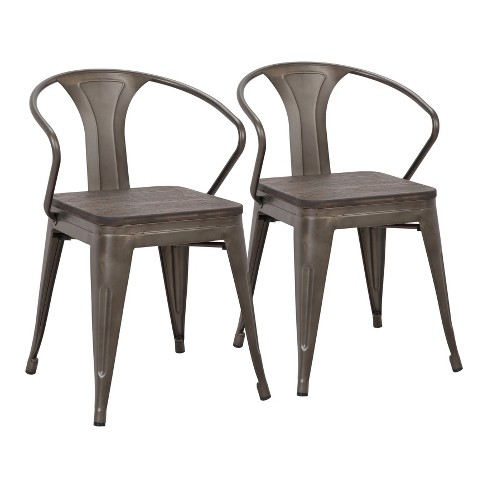 Set of 2 Waco Industrial Chairs - Lumisource - image 1 of 8