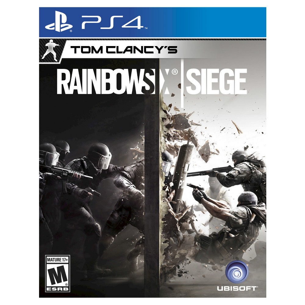 Rainbow Six Siege Pre-Owned PlayStation 4 Take on the role of an operator to end terrorism in the thrilling Rainbow Six Siege Pre-Owned (PlayStation 4) - Microsoft. The game works for PlayStation 4 consoles. The pre-owned video game is in like-new condition and is recommended for ages 17 and older.