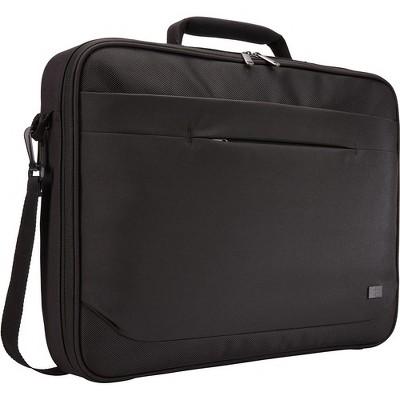 "Case Logic Advantage ADVB-117 BLACK Carrying Case (Briefcase) for 17.3"" Notebook - Black - Polyester - Handle, Shoulder Strap, Luggage Strap"