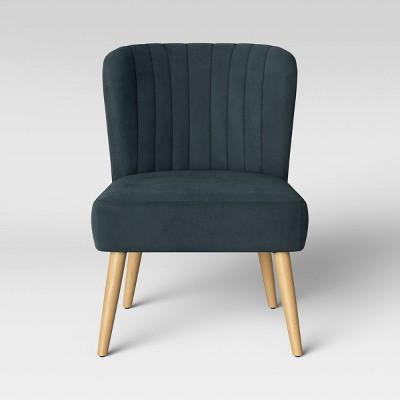 Chelidon Velvet Slipper Chair Blue - Opalhouse™