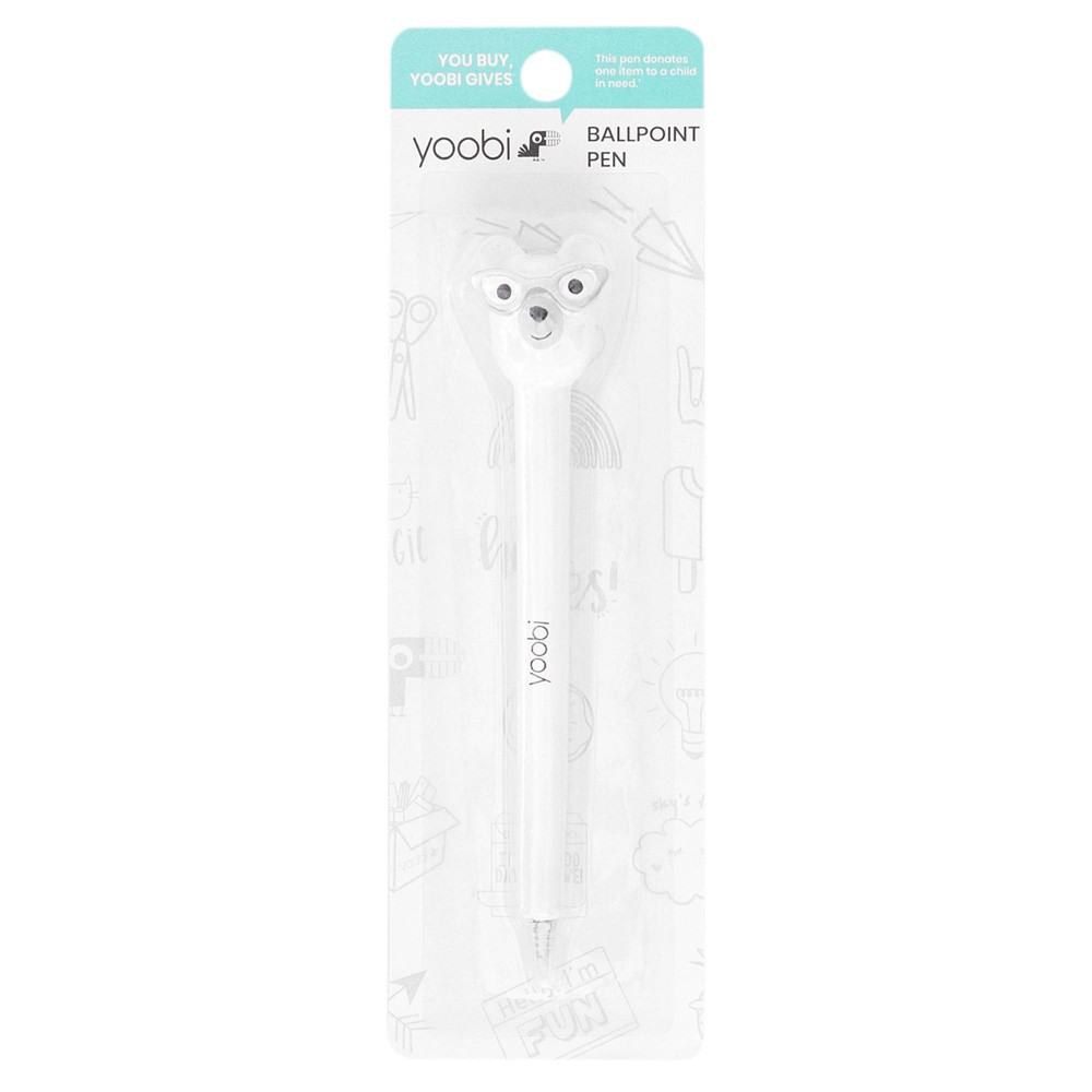 Image of 1.0mm Ball Point Pen Novelty Shape Polar Bear - Yoobi