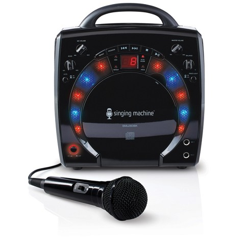 Singing Machine SML283BK Portable CD +G Karaoke System with Disco Lights and Microphone, Black - image 1 of 4