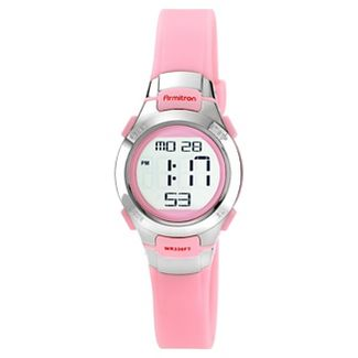 Womens Armitron Digital and Chronograph Sport Resin Strap Watch - Pink