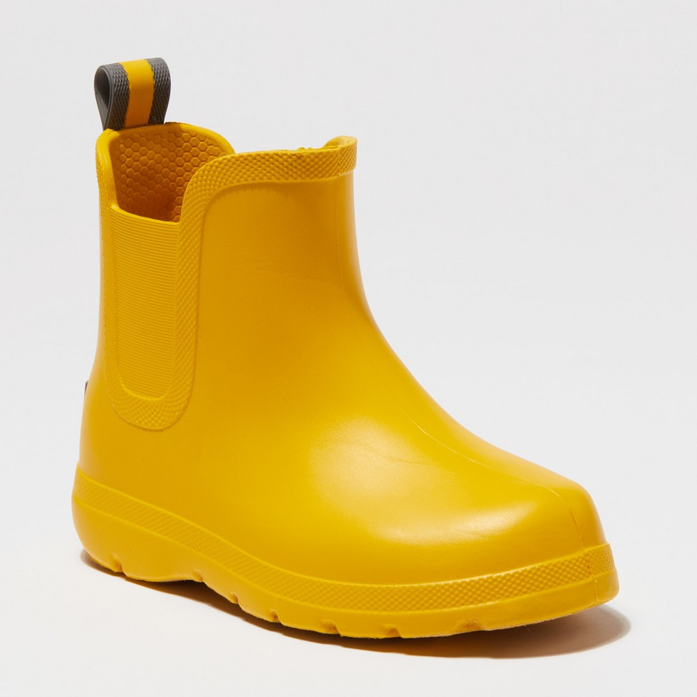 Toddler's Totes Cirrus Ankle Rain Boots - Yellow 5-6, Toddler Unisex
