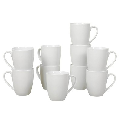13oz 10pk Porcelain Catering Mugs White - Tabletops Gallery