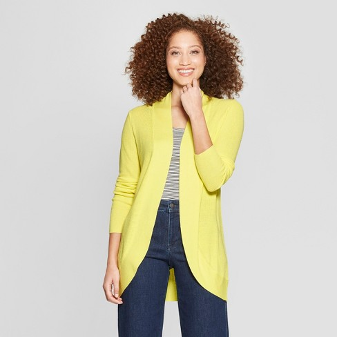 c6fb9c275a Women s Long Sleeve Cocoon Cardigan - A New Day™ Yellow XXL   Target