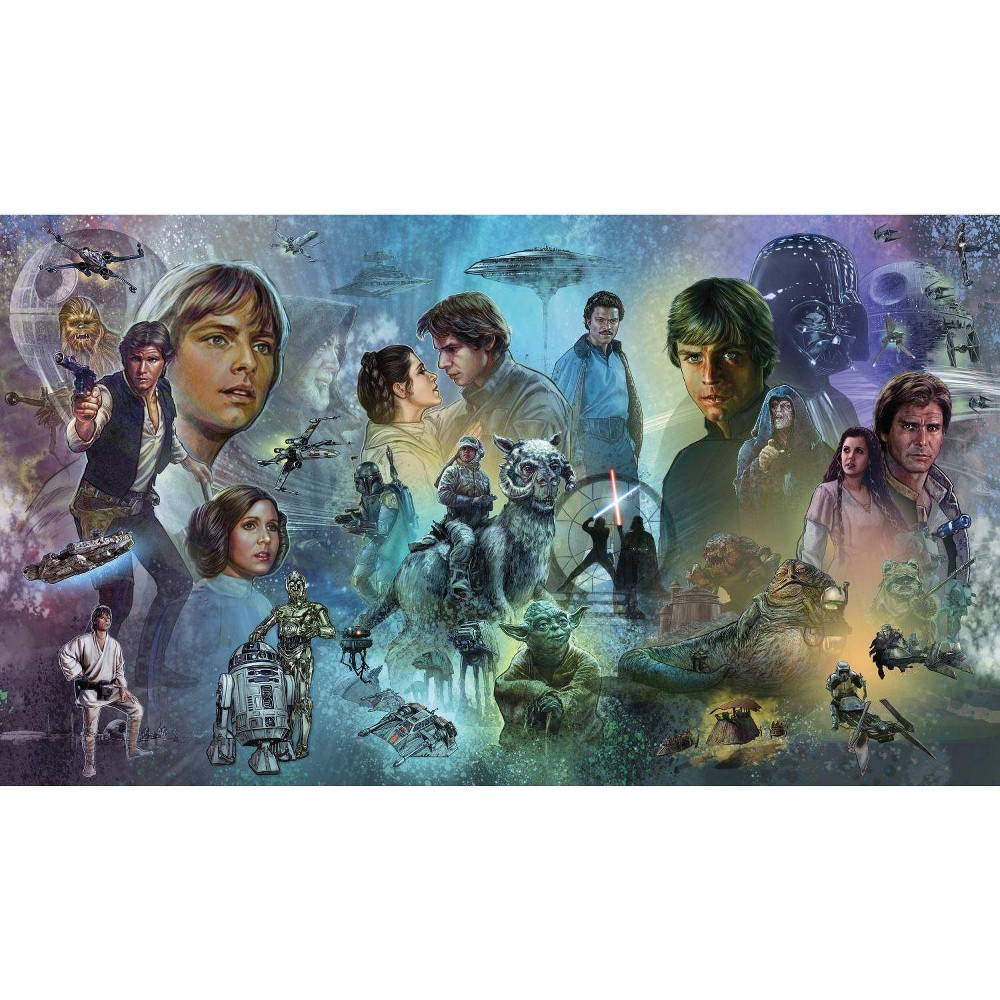 Image of Star Wars Original Trilogy Peel and Stick Wall Mural - RoomMates