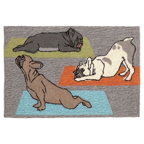 Frontporch Yoga Dogs Heather Rug - Liora Manne - image 1 of 2
