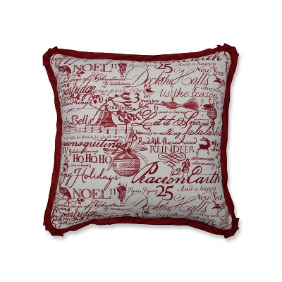 Pillow Perfect Holiday Poinsettia Throw Pillow - Red (18 )