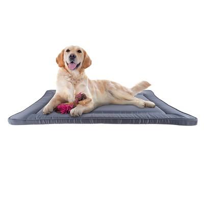 Pet Pal Waterproof Dog Crate Pad With Raised Edge – Gray