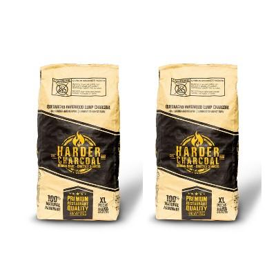 Harder Charcoal 100 Percent Natural XL Restaurant Style Lump Charcoal, 33 LB Bag (2 Bags)