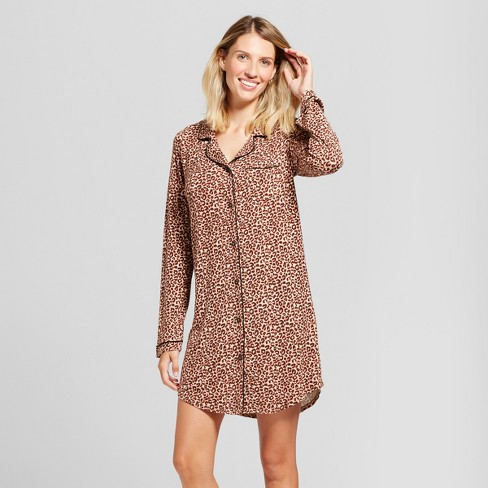 9e156ad616 Women s Leopard Print Total Comfort Nightgown - Gilligan   O Malley™ Brown