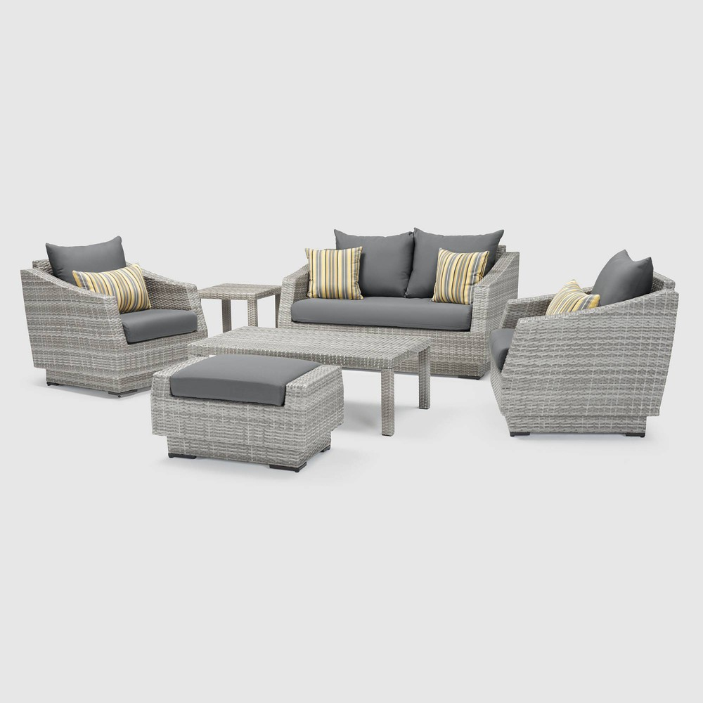 Rst Brands Cannes 6-piece Love & Club Set- Charcoal Gray