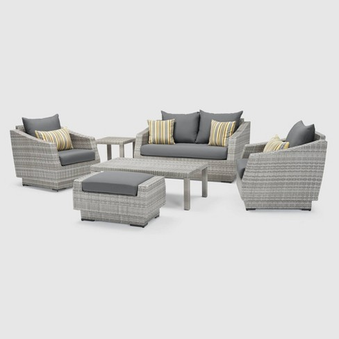 RST Brands Cannes 6-piece Love & Club Set- Charcoal Gray - image 1 of 4