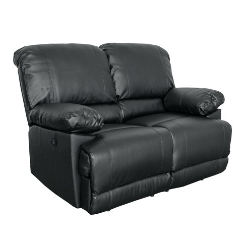 Lea Bonded Leather Power Reclining Loveseat With Usb Port