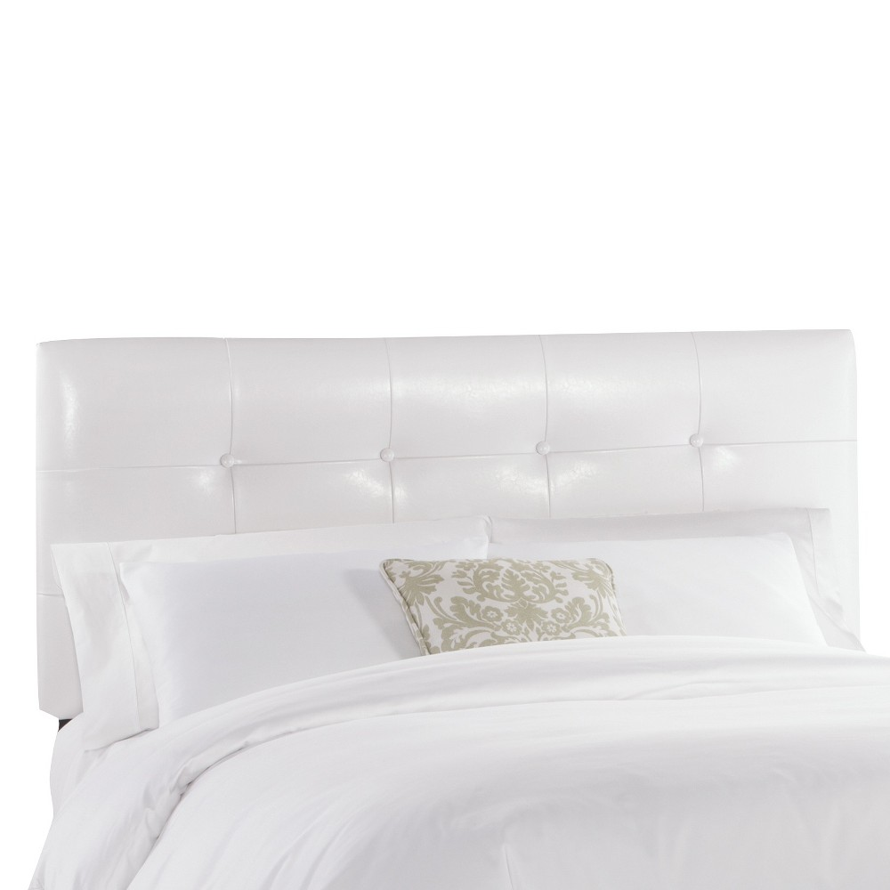 Dolce Faux Leather Headboard - Classico White - California King - Skyline Furniture