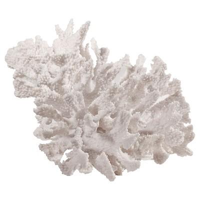 Decorative Coral Resin Figurine - White