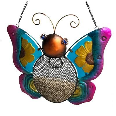 "13"" Metal Butterfly Mesh Bird Feeder - Backyard Expressions"