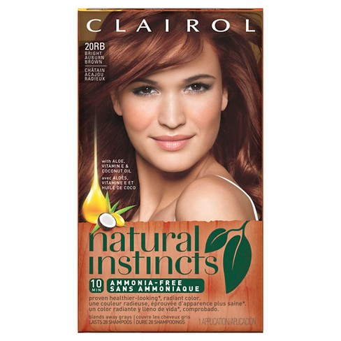 natural instincts clairol ammonia free hair color 20rb bright
