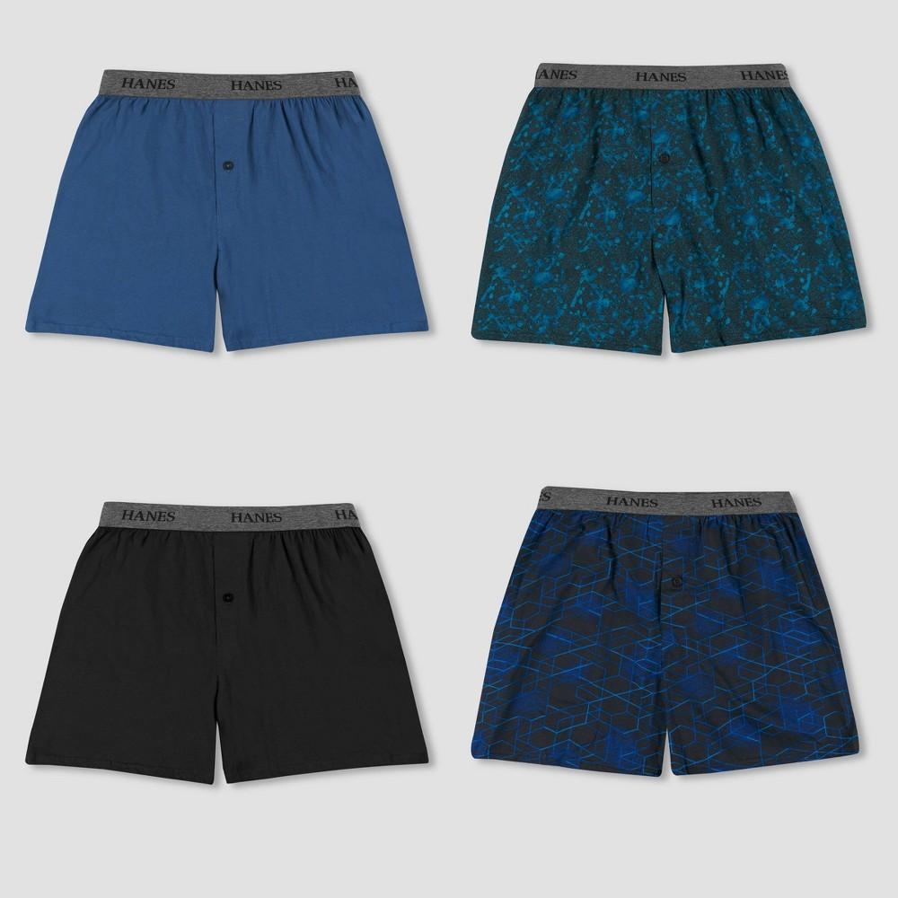 Hanes Premium Men 39 S 4pk Knit Boxers S