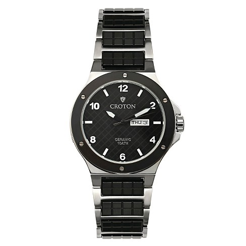 Men's Croton Stainless Steel Watch - Black - image 1 of 3