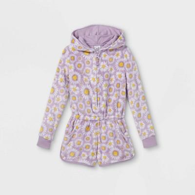 Girls' Daisies Pajama Romper - art class™ Violet