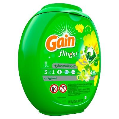 Gain Flings Original Scent Laundry Detergent Pacs 81 ct