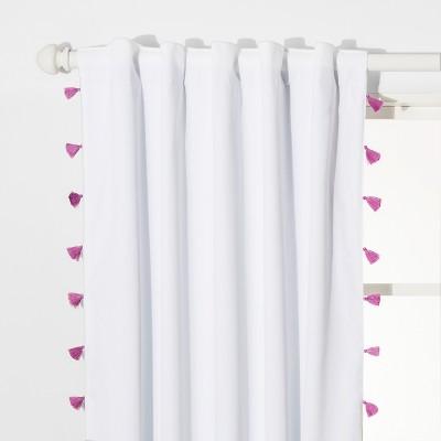 "63"" Tassel Blackout Curtain Panel Violet - Pillowfort™"