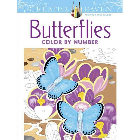Creative Haven Butterflies Color by Number Coloring Book - (Creative Haven Coloring Books) (Paperback) - image 1 of 1