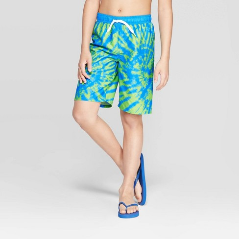 Sea-Life Co. Boys' Tie Dye Swim Trunks - Turquoise - image 1 of 3