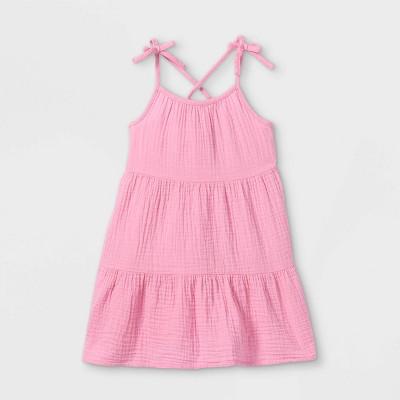 Toddler Girls' Tiered Tank Dress - Cat & Jack™ Pink