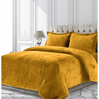 Venice Velvet Oversized Solid Duvet Cover Set - Tribeca Living