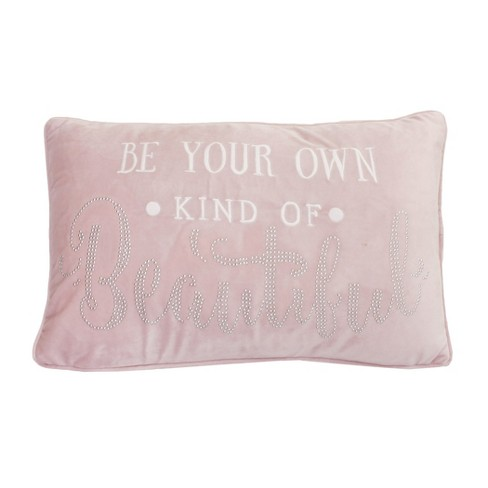 Studded Velvet Lumbar Throw Pillow Rose - Dcor Therapy - image 1 of 1
