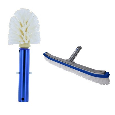 Blue Devil Pool Corner and Step Cleaning Brush and Wall Cleaning Brush Deluxe