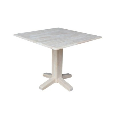 "36"" Sanders Square Dual Drop Leaf Dining Table - International Concepts"