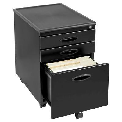 Merveilleux Mobile File Cabinet W/Locking Drawers   Black
