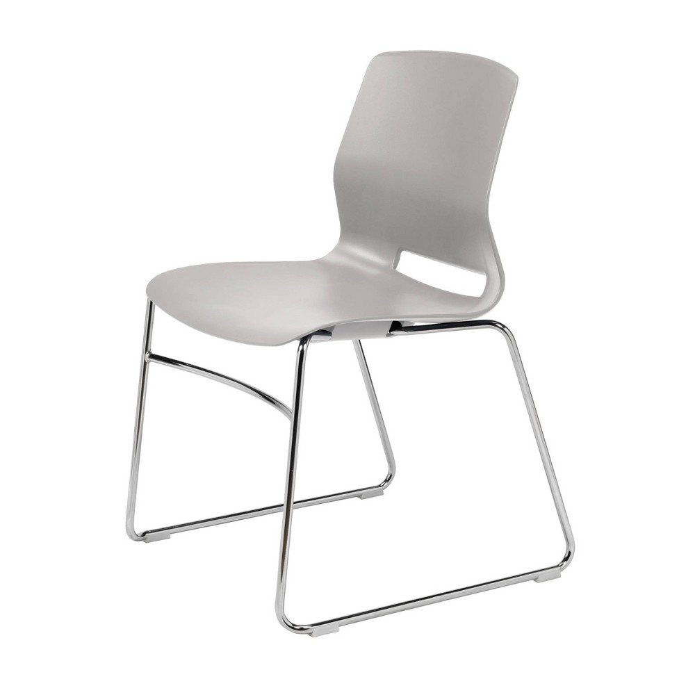 Lola Sled Base Office Stack Chair Light Gray - Olio Designs