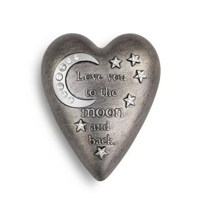 DEMDACO To The Moon Art Heart Keeper Silver