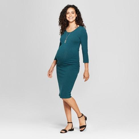 1de36134c6d Maternity 3 4 Sleeve Shirred T-Shirt Dress - Isabel Maternity by Ingrid    Isabel™