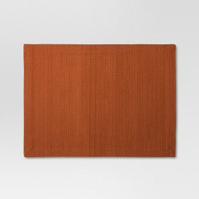 Woven Textured Placemat - Rust - Threshold™