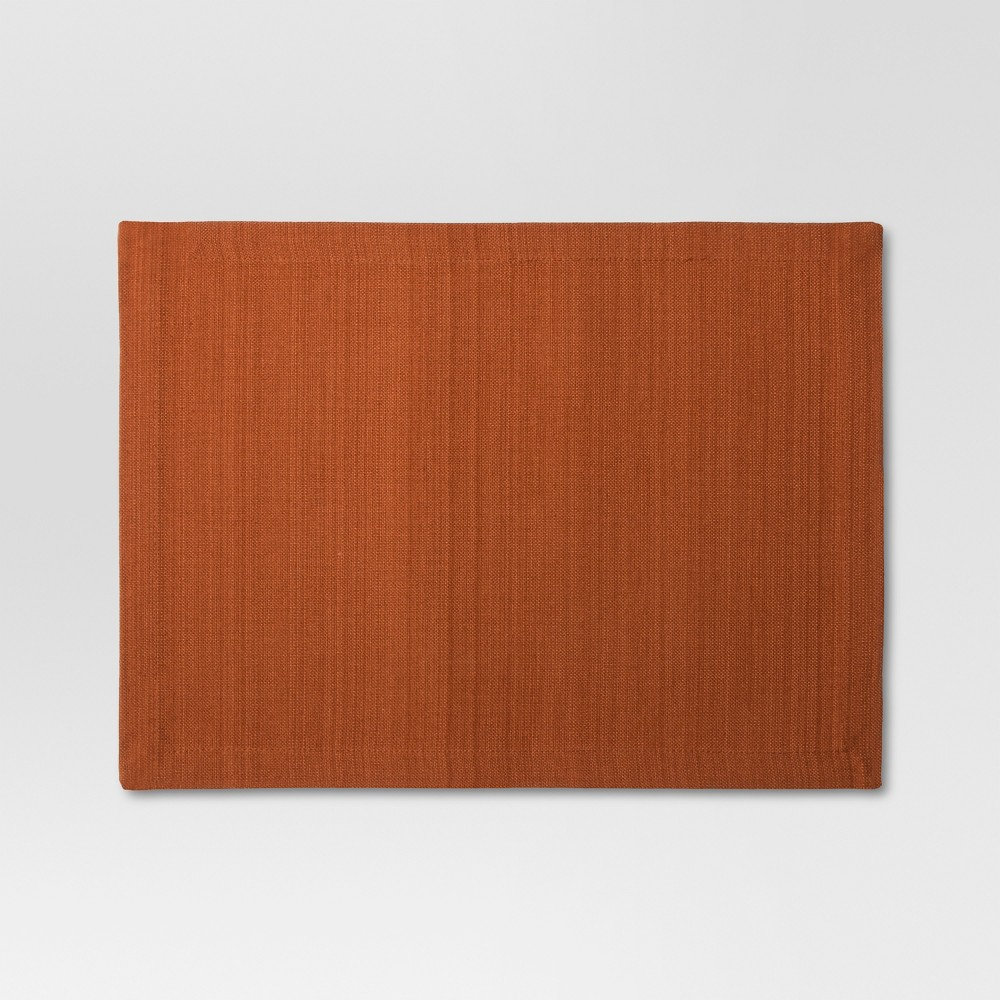 Woven Textured Placemat - Rust (Red) - Threshold