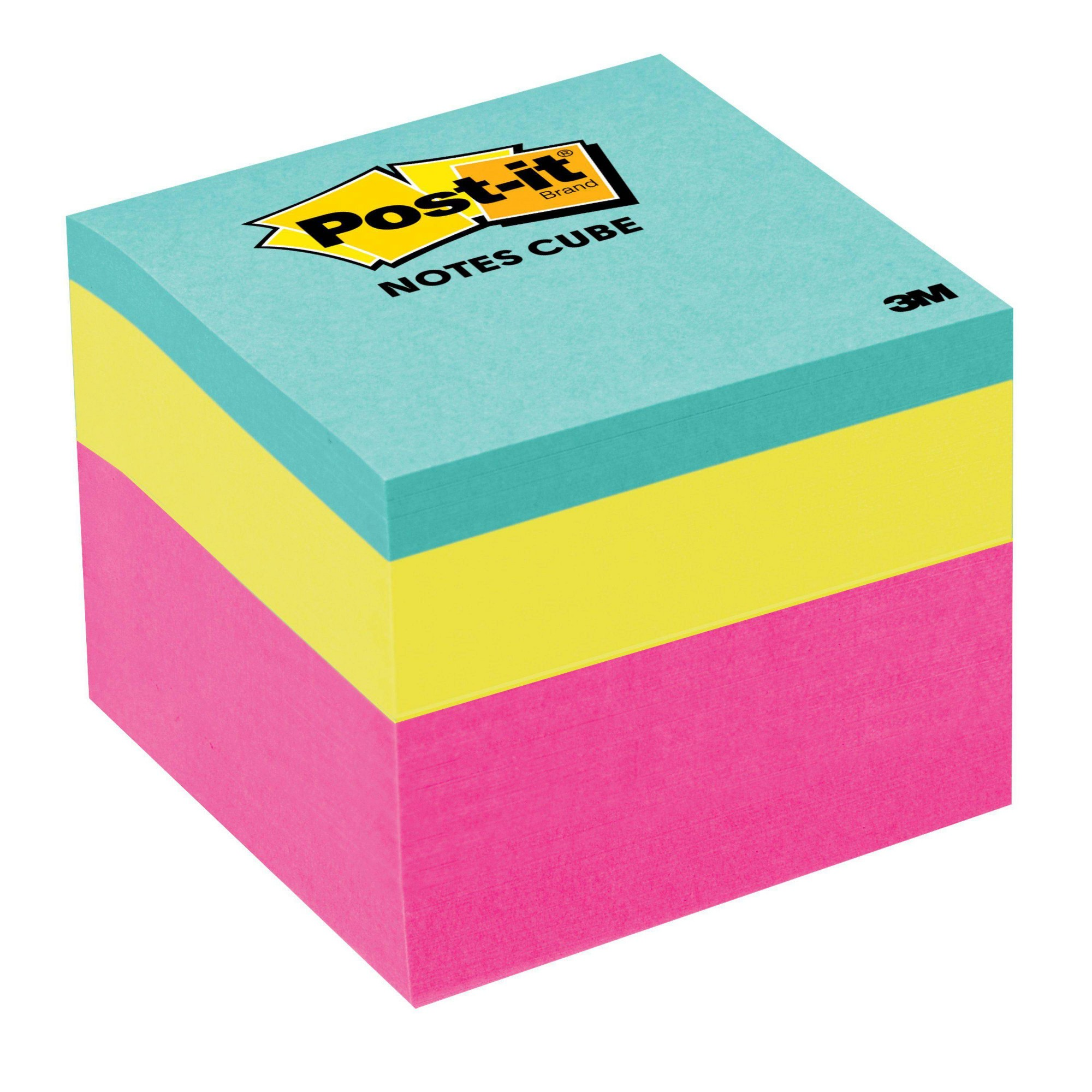 'Post-it Notes Cube, 2'' x 2'' - Pink Wave, 1 Cube/Pk, 400 Sheets/Cube'