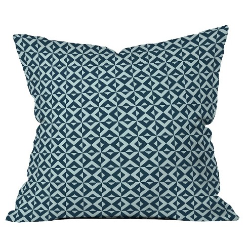 Navy Nina in Throw Pillow - Deny Designs® - image 1 of 1