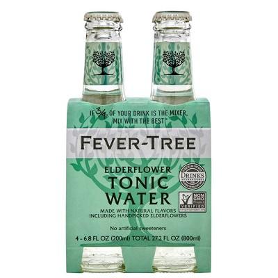 Fever-Tree Elderflower Tonic Water - 4pk/200ml Bottles