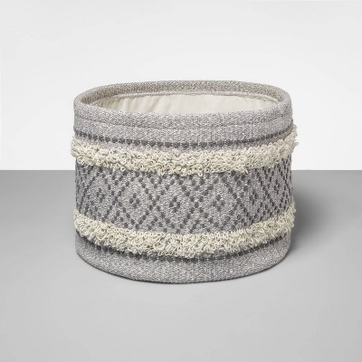 Soft Rug Basket w/ Detail Gray - Opalhouse™